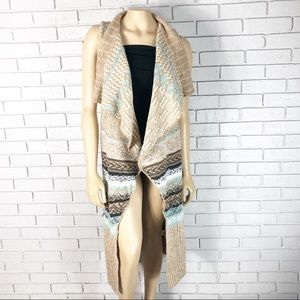 Anthropologie Sleeping On Snow Maxi Sweater Vest